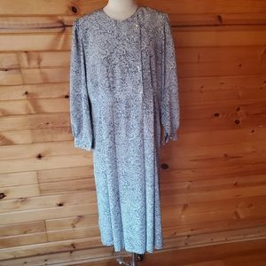 1980s Lucky Fashion Navy & White Dress